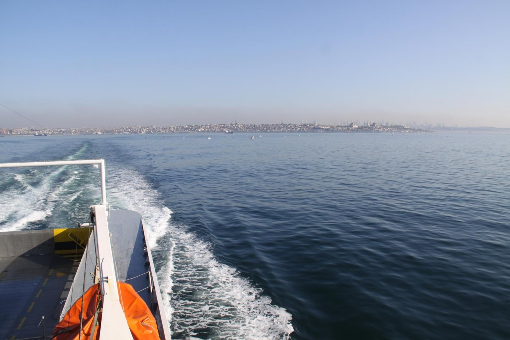 We Depart from the Yenikoy Ferry Terminal for our Return to Yalova