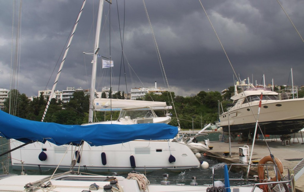 Exceptionally Loud Thunder Drowned Out the Constant Rigg Clanging on the Nearby Yachts