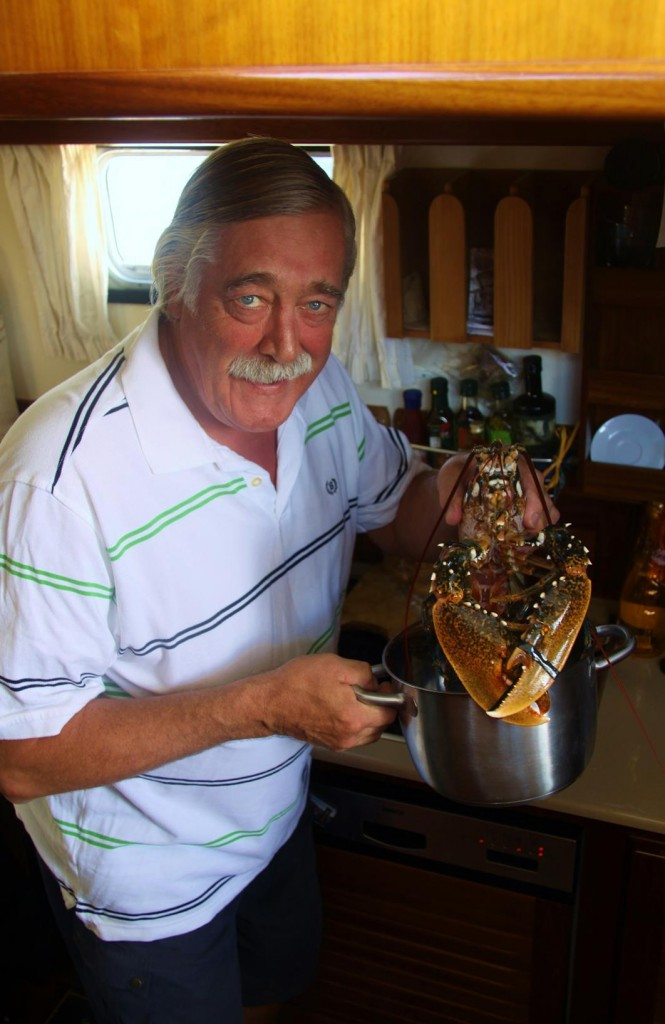 John Cooks the Lobster Purchased in Marmara Yesterday