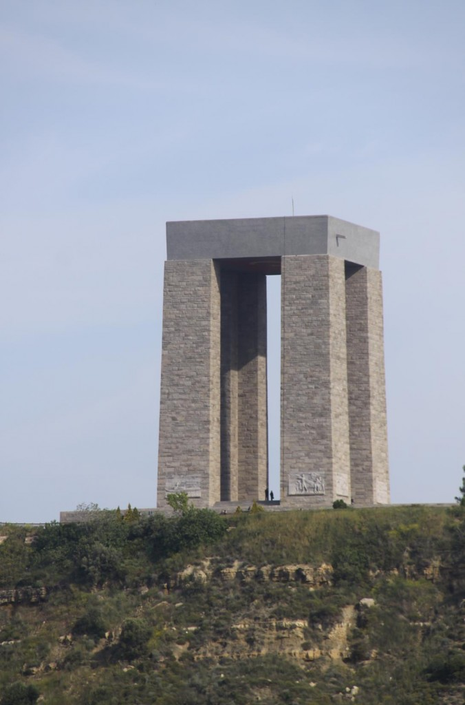 The Turkish War Memorial at the Entrance to the Dardanelles