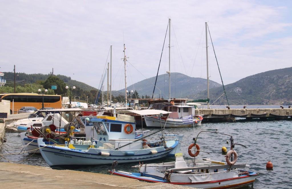 Quaint Local Tiny Vessels Line the Shore