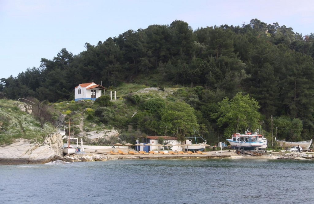 We Arrive in the Thasos Port