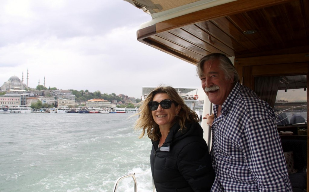 Despite the Cool Weather we Enjoyed the Trip up the Golden Horn