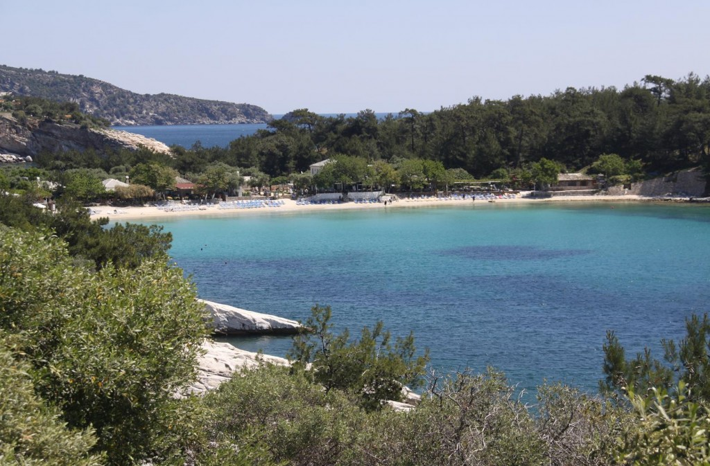 Turquoise Water can be Found in Many Bays on Thasos