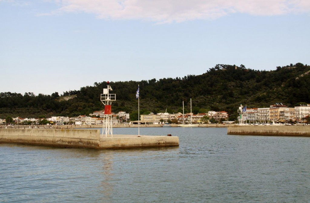 The Entrance to the New Harbour of Port Thasos