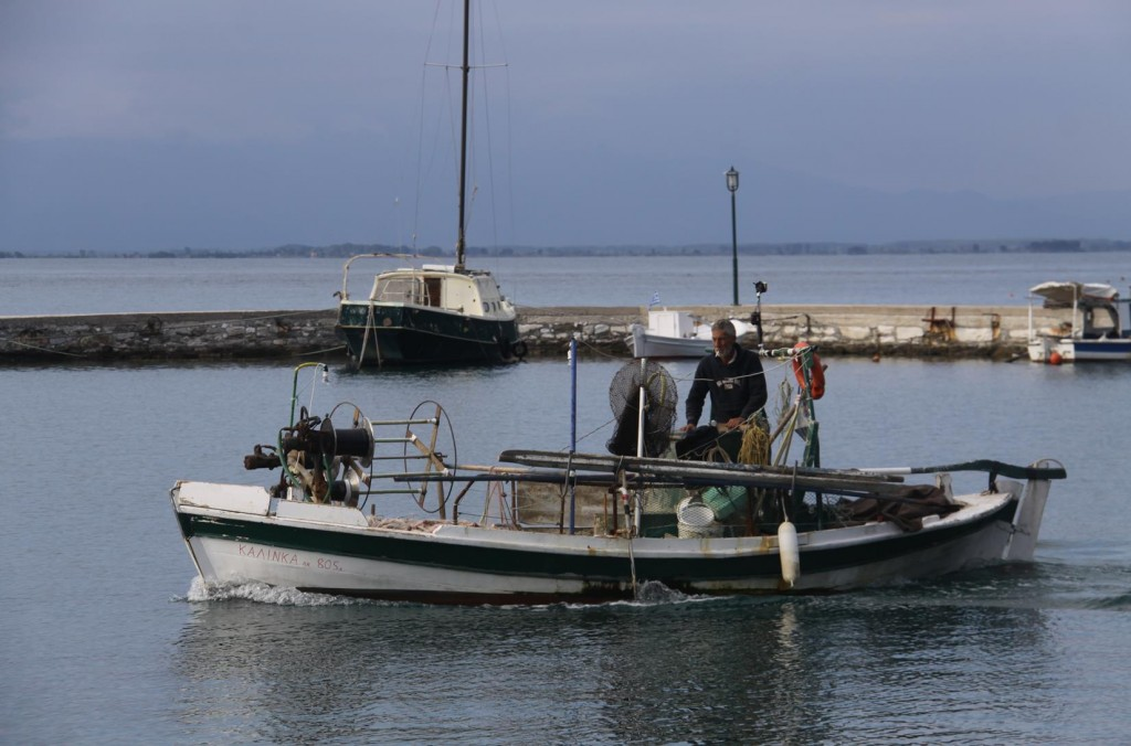 A Local Fishermen Heading Out for a Late Catch