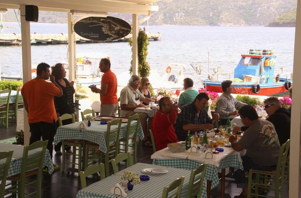 Plenty of Other Patrons Also Enjoying the Tzitzikas Fish Tavern Today