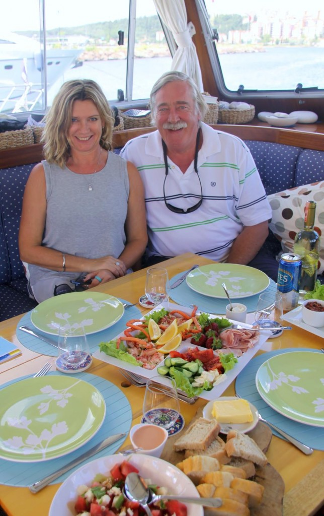 Time for a Late Lunch after Our Long Trip from Marmara Island