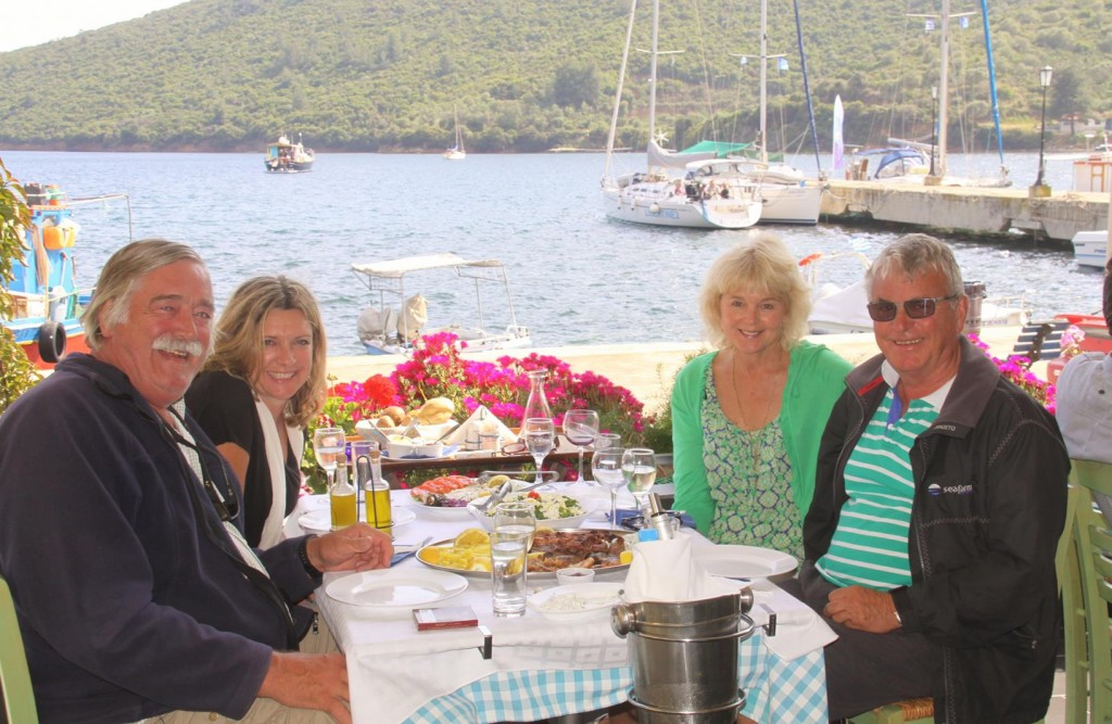 How Could we Resist the Waiter's Offer of Taking Our Photo !!