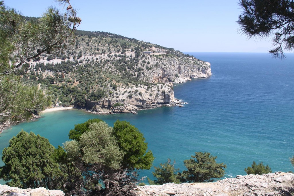 The Coastline of Thasos is one of the most Beautiful we have Visited
