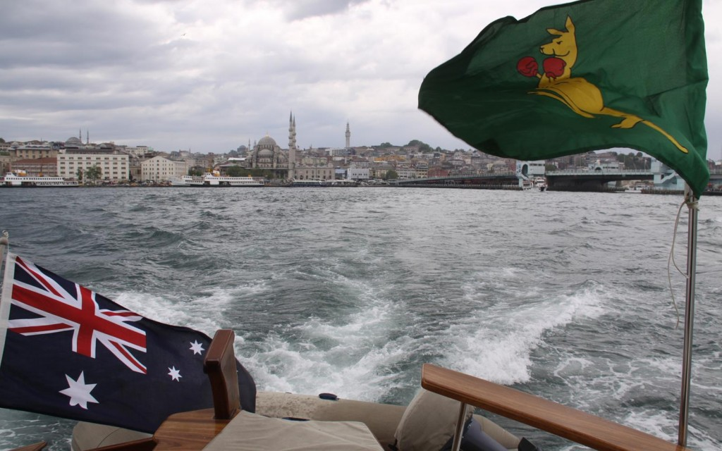 We Come Out of the Golden Horn and Continue Up the Bosphorus Strait