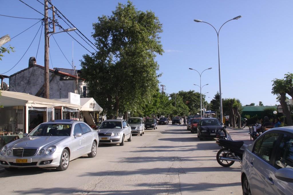 The Main Street of Kamariotissa