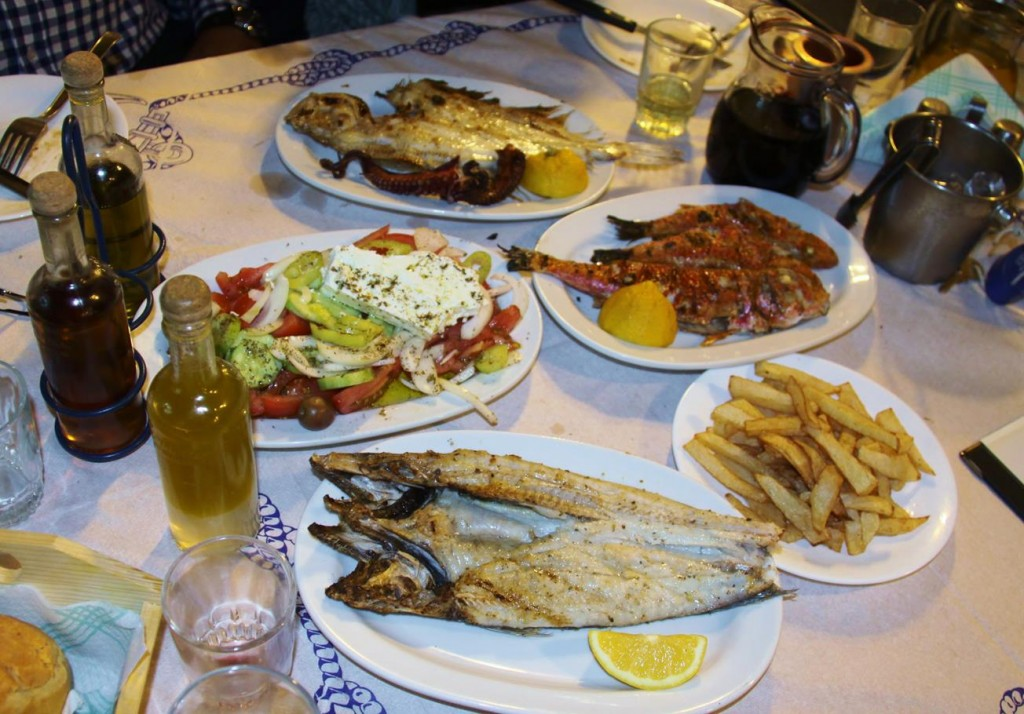 A Good Selection of Fresh Local Fish on the Menu