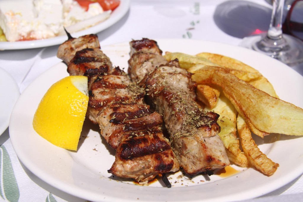 Lamb Souvlaki Only on the Menu for Lunch Today