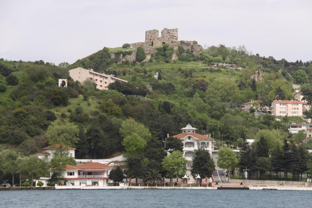 The Village Anadolu Kavagi on the Asian side with the Ruins of the Ancient Byzantine Fortress