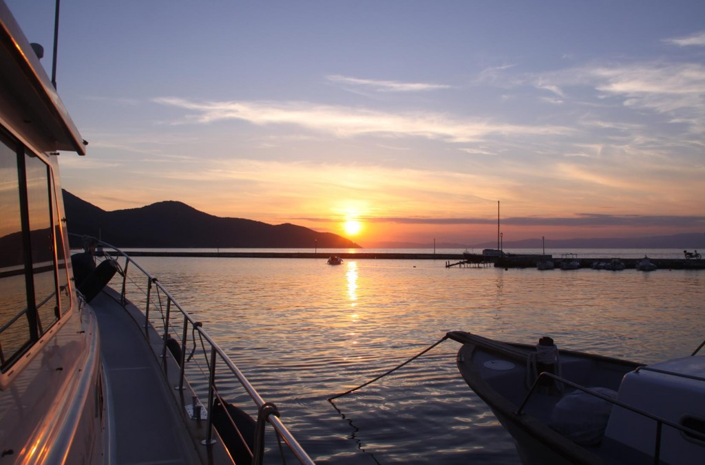 Sunset Over Thasos Port