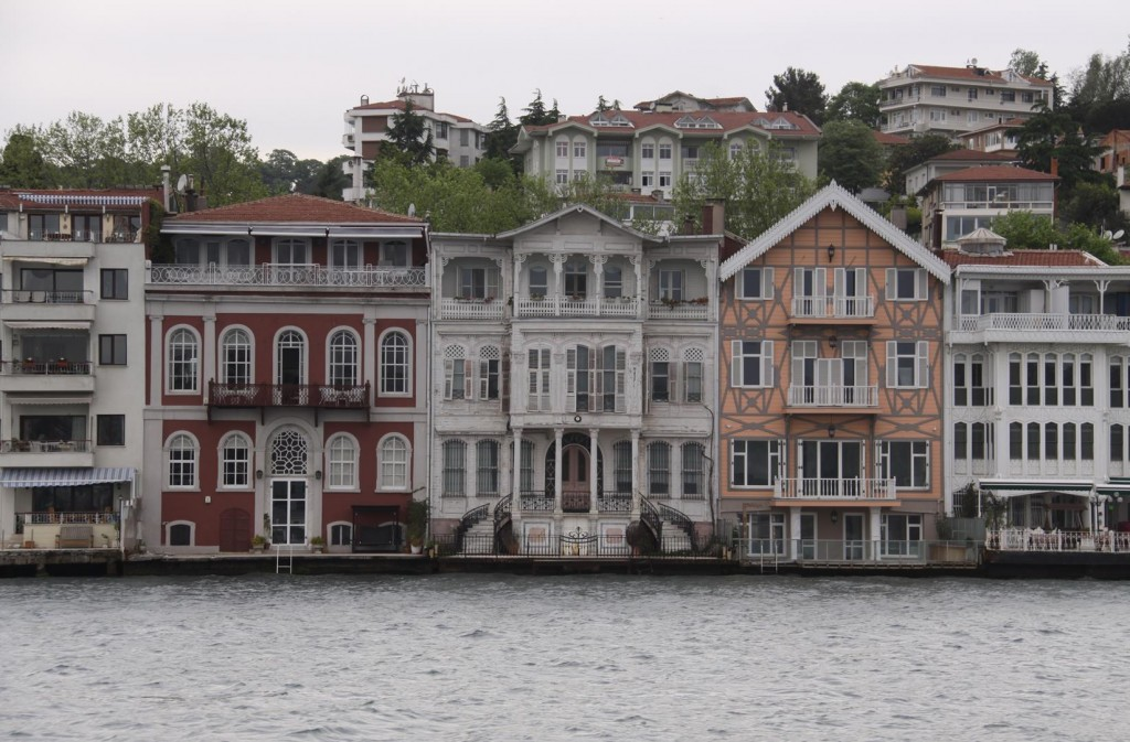 Once Again we Pass the Elegant Homes along the Shores at Yenicoy