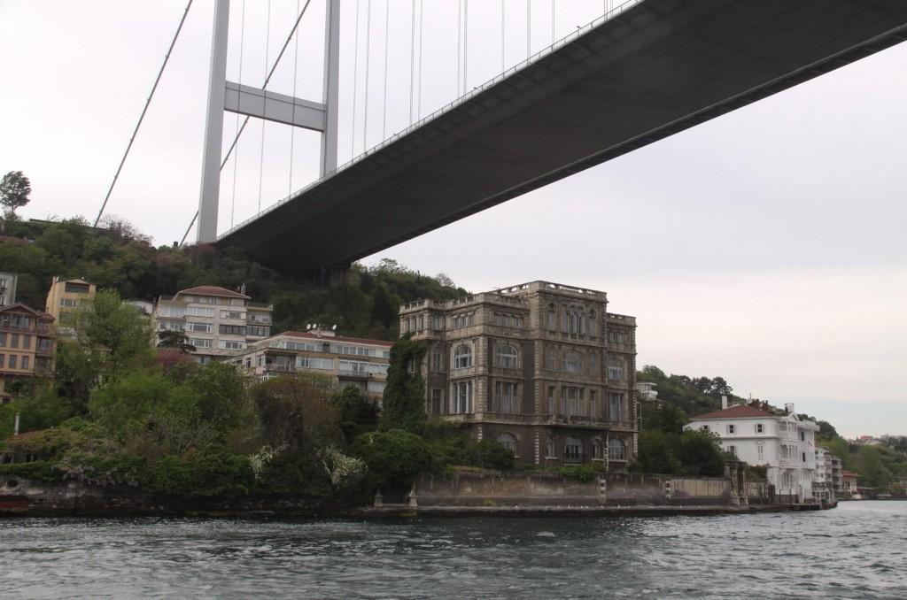 We Pass Back Under the Bosphorus Bridge