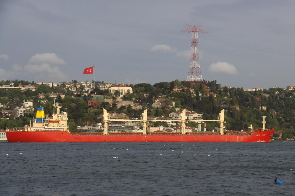 Many Freighters make their Way to the Black Sea