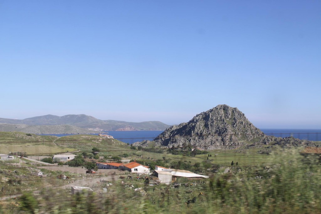 The Town of Kontias is Sited Between Two Volcanic Outcrops