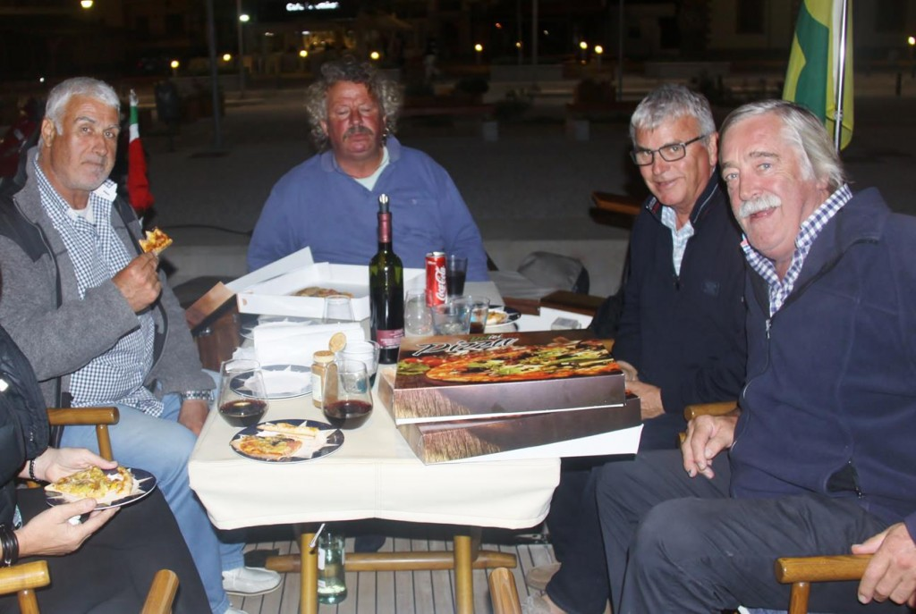 A Pizza Dinner Aboard with Our New Friends