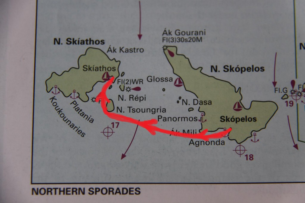 Northern Sporades Agnontas to Skiathos