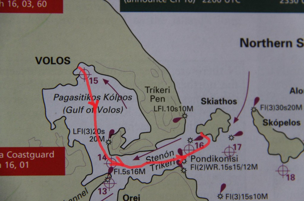 Northern Sporades Volos to Koukounaries