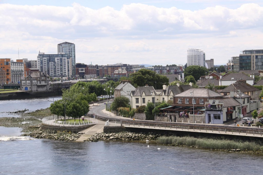 The River Shannon Divides the Ancient Town of Limerick