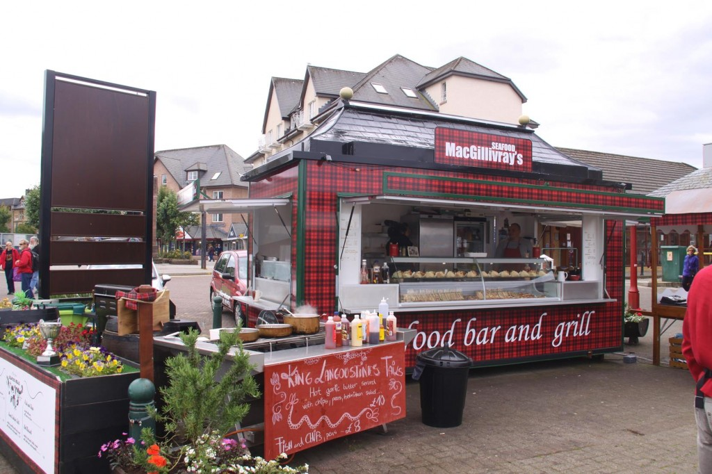 Oban has Many Seafood Outlets