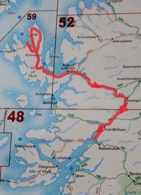 307 Greshornish, sle of Skye to Onich