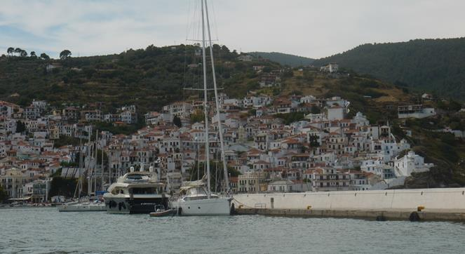 Once the Storm Passed we made our way to Skopelos Port for Safety