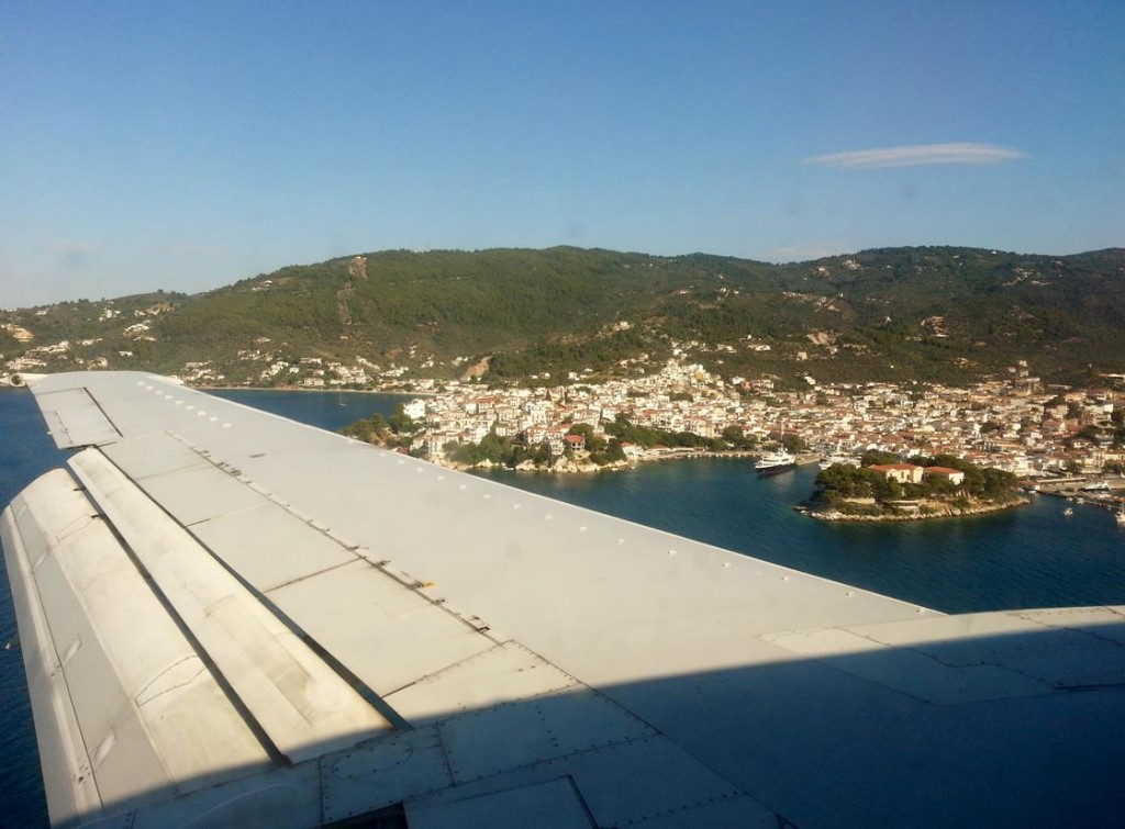 We have a Direct Flight from Rome to the Island of Skiathos in Greece