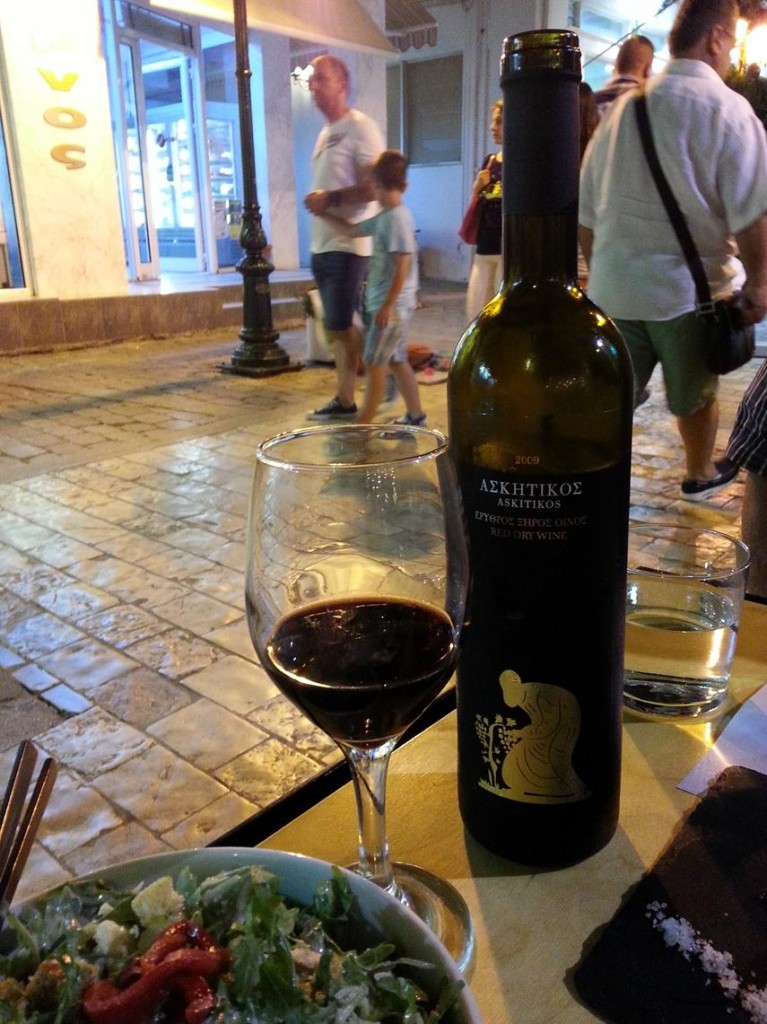 A Nice bottle of Greek Wine to Accompany Our Food