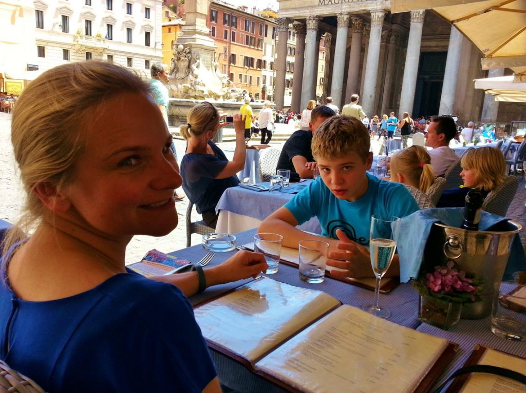 "Lunch Today at ""Di Rienzo"" Piazza Del Pantheon"