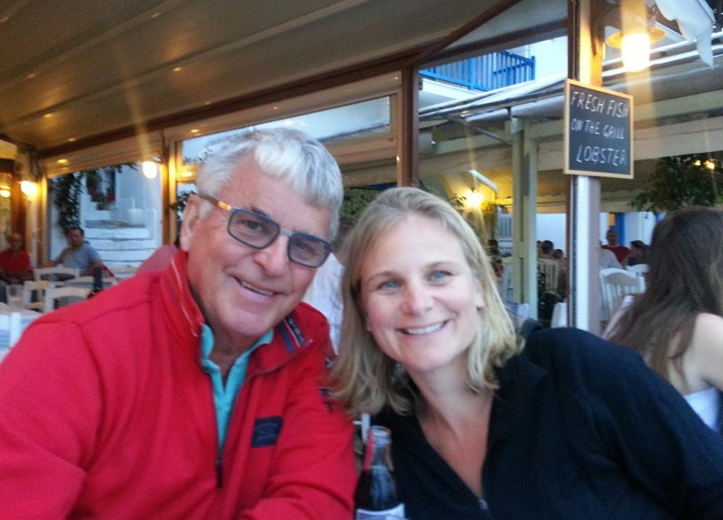 Once Securely Tied Up on the Pier we took the Family to Molos Taverna for a Greek Dinner