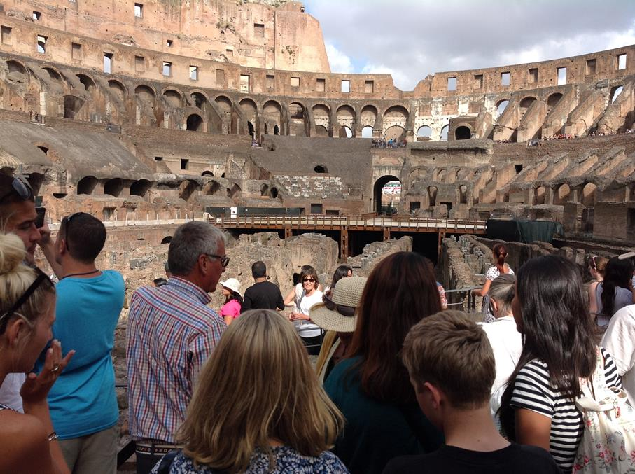 The Guided Tour of the Colesseum was very Informative