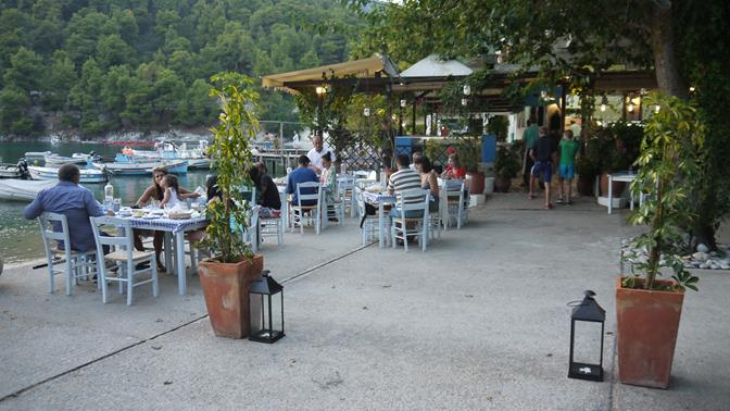 Dinner Tonight we Try one of the Local Tavernas Ashore