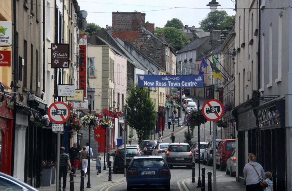 We Pass Through New Ross in Wexford County, South East Ireland