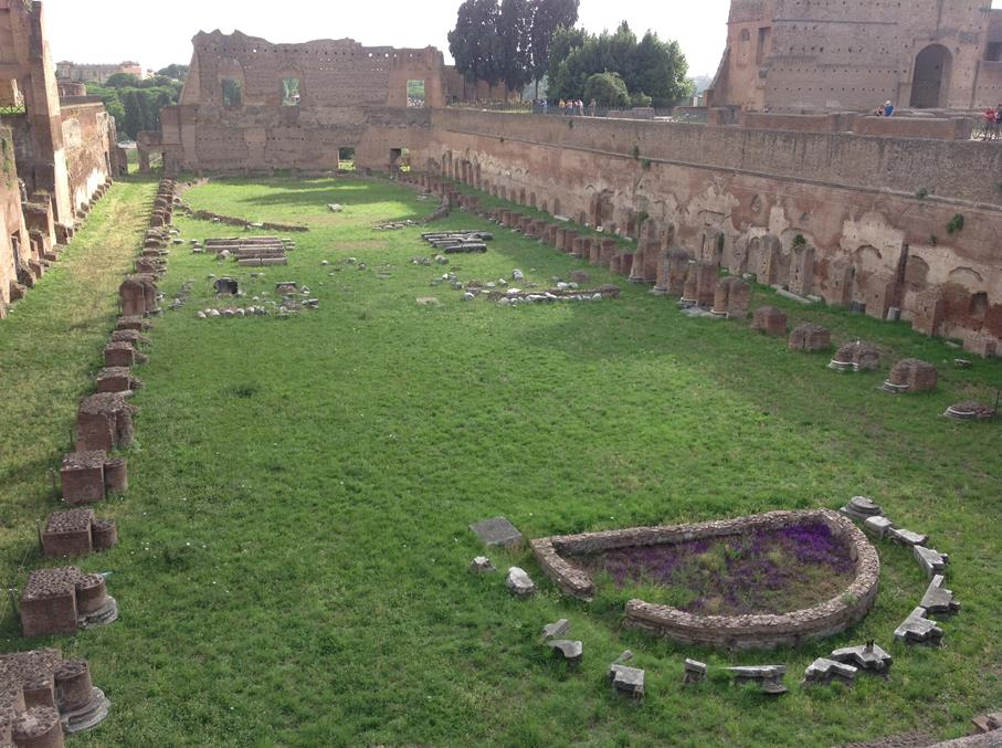 Ancient Ruins on Palatine Hill