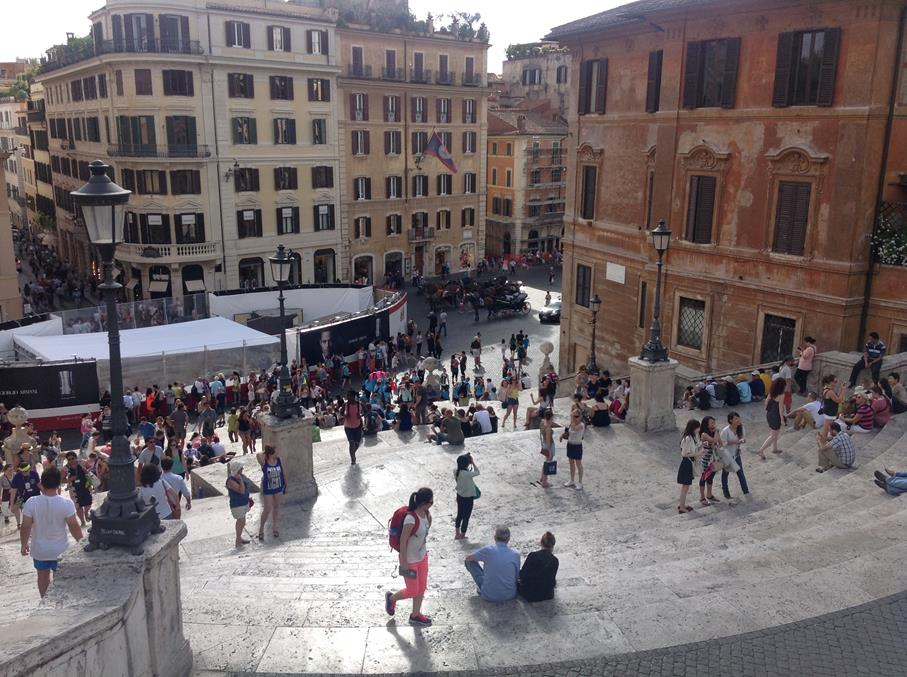 Looking Down on the Spanish Steps