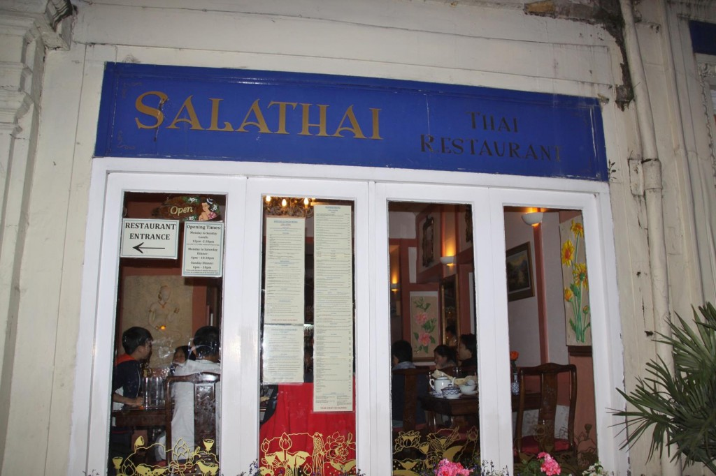 Dinner Tonight at the Local Thai Restaurant called Salathai