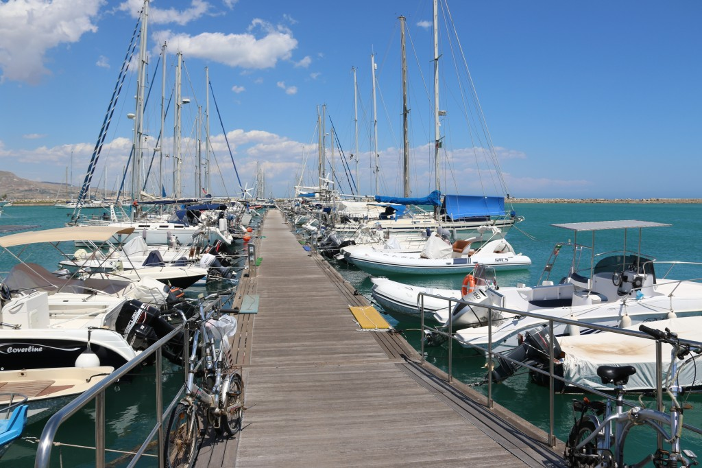 Our pontoon at Marina Di Cale Del Sole in the port of Licata