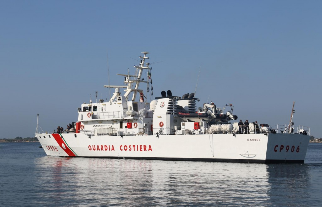 The Coast Guard vessel leaves port this morning