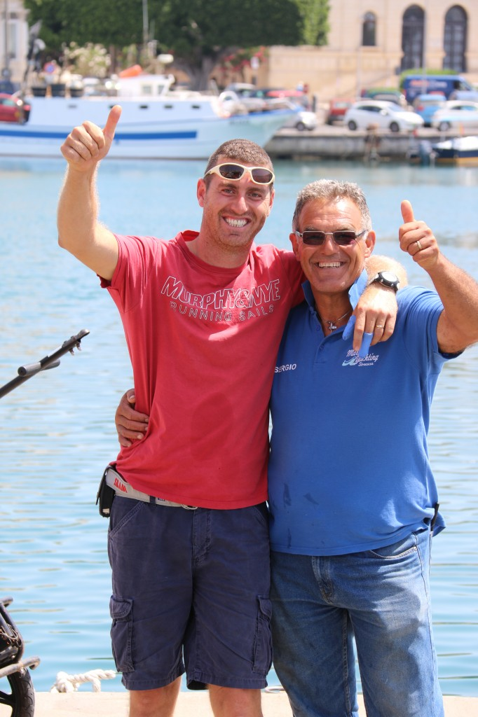 Vincento from Nautica Store  (boat mechanic - doing work for us) and Sergio from the Marina