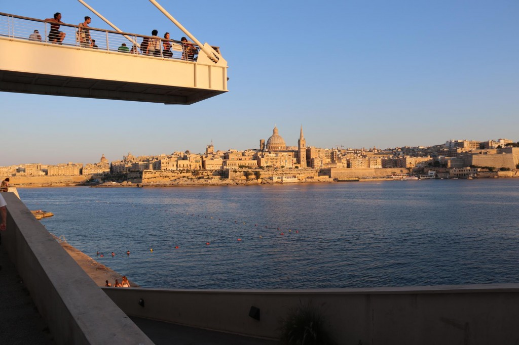 A Wonderful View of Valletta from the Tigne Point Walkway
