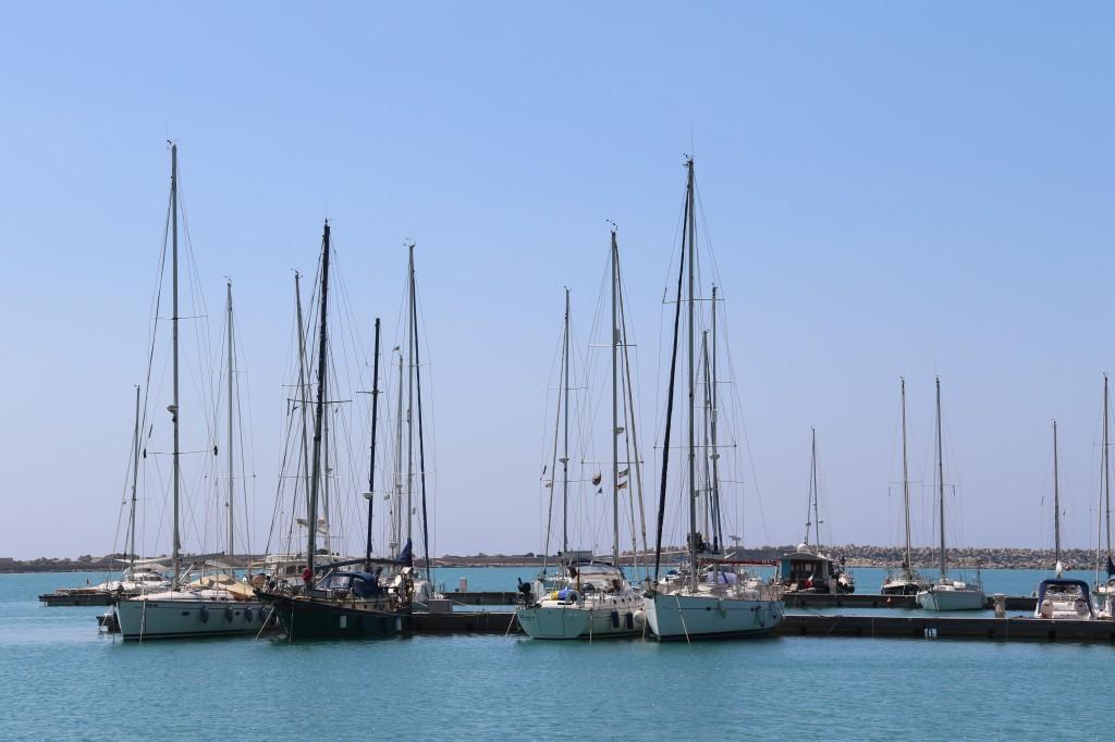 The Tangaroa in the marina