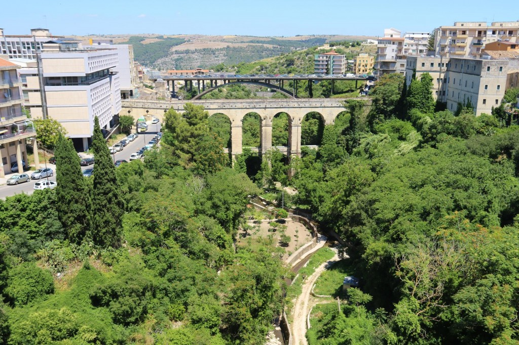 Arriving in Ragusa  the viaducts spaning the city were quite massive