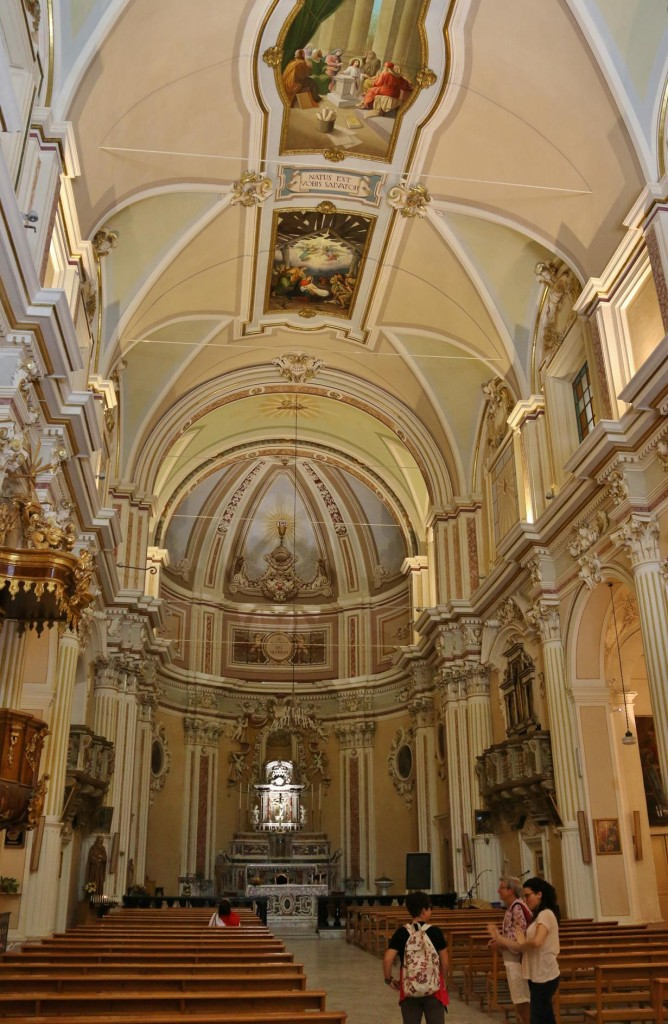 The beautiful interior of the Chiesa Madre