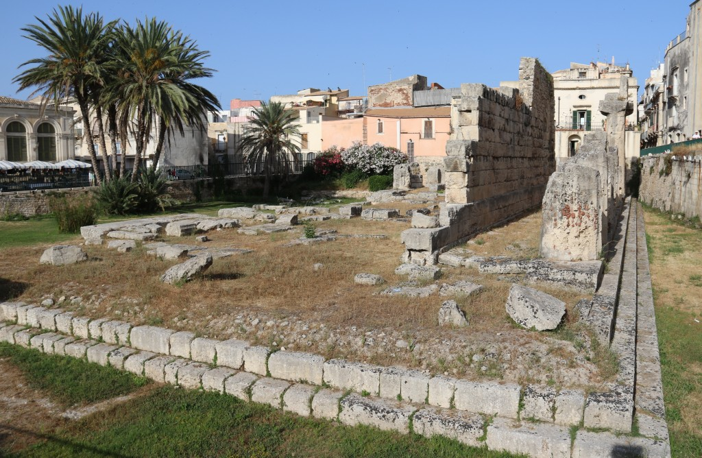 The ruins of the Temple of Apollo which date back to the 6th Century BC