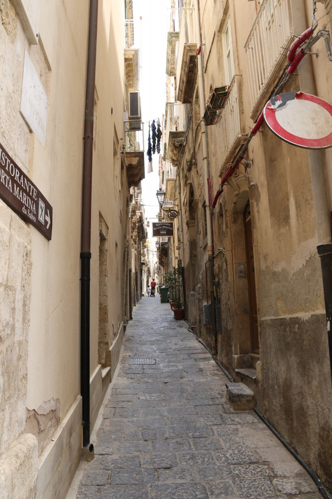 One of the many narrow long alleyways of Ortiga